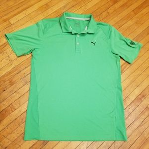Men's medium Puma Golf polo Bright green